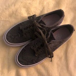 Vans snake print sneakers women's size 6
